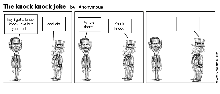 The knock knock joke by Anonymous