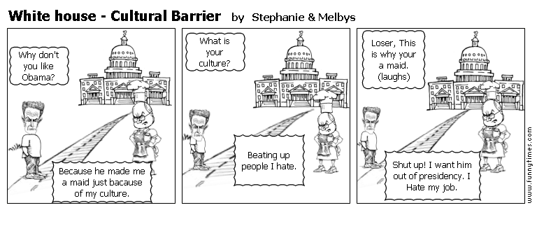 White house - Cultural Barrier by Stephanie Melbys
