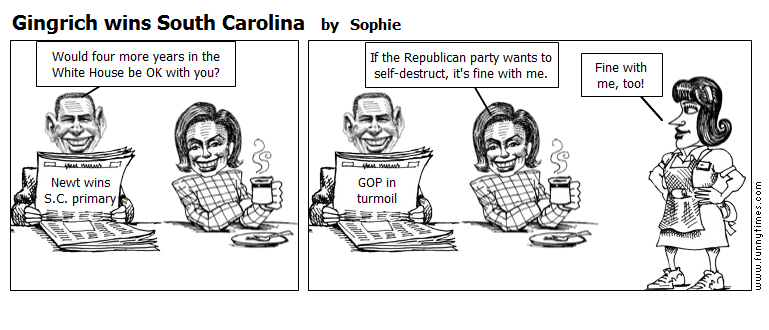 Gingrich wins South Carolina by Sophie
