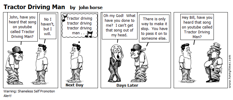 Tractor Driving Man by john horse