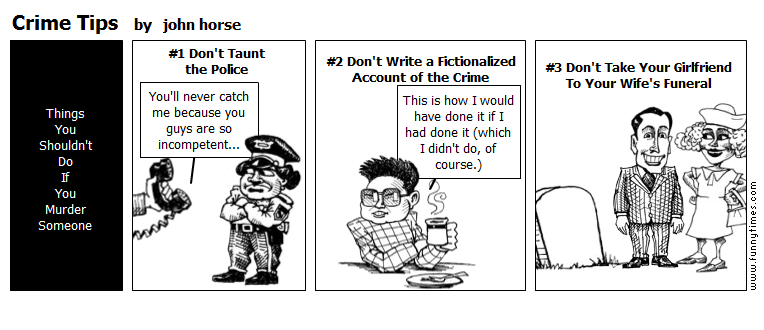 Crime Tips by john horse