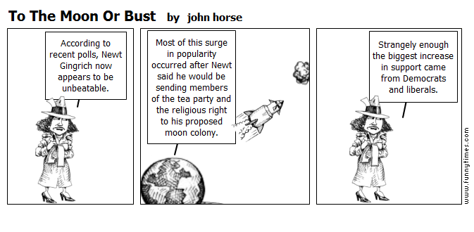 To The Moon Or Bust by john horse
