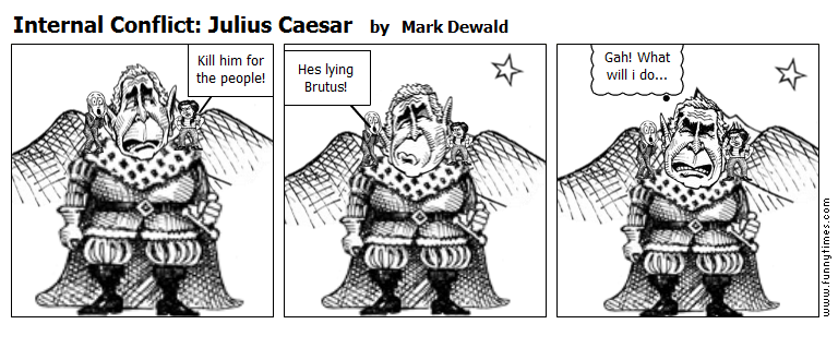 julius caesar vs political cartoon Yes, another historical figure who has a doppelganger whose tvcu presence is of major importance to us the time of hercules: the legendary journeys and xena: warrior princess--i'.