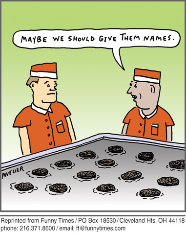 Funny food mueller cooking cartoon, February 08, 2012