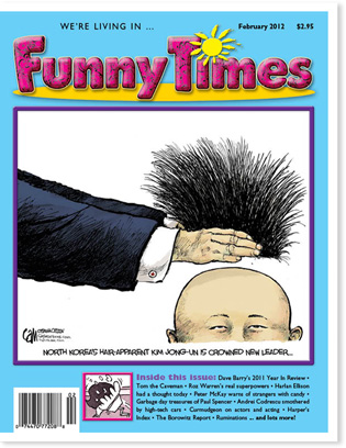 Funny Times February 2012 issue cover