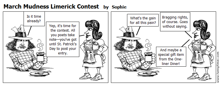 March Mudness Limerick Contest by Sophie