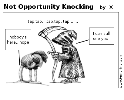 Not Opportunity Knocking by X