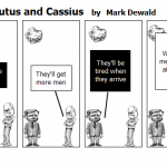 conflict between Brutus and Cassius