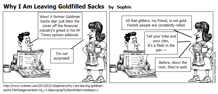 Why I Am Leaving Goldfilled Sacks by Sophie