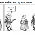 Conflict between Caesar and Brutus