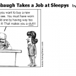 Rush Limbaugh Takes a Job at Sleepys