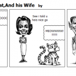 Barack Obama,His Cat,And his Wife
