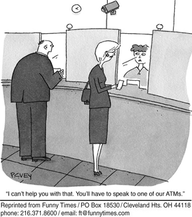 Funny science service atm cartoon, March 07, 2012