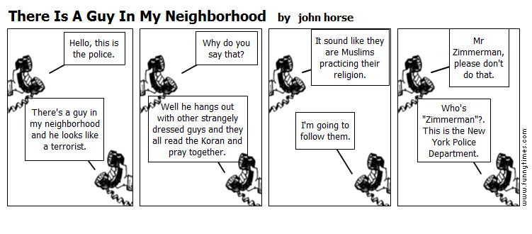 There Is A Guy In My Neighborhood by john horse