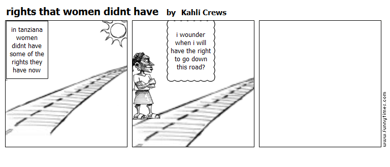 rights that women didnt have by Kahli Crews