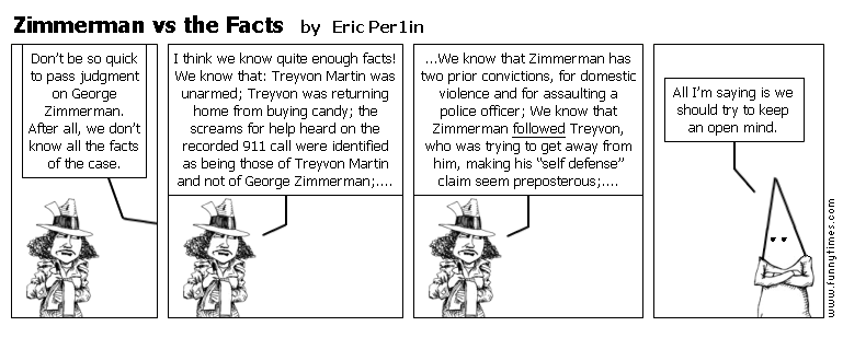 Zimmerman vs the Facts by Eric Per1in