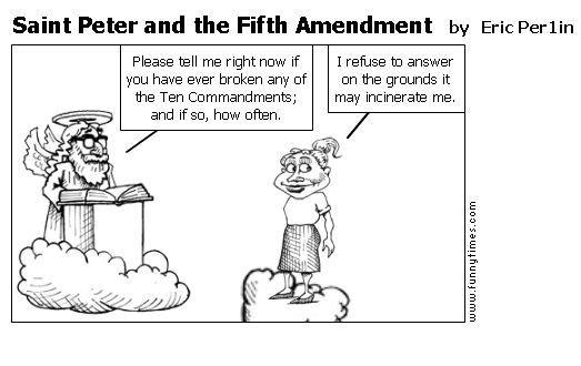 """fifth amendment The fifth amendment of the united states provides that no person """"shall be  compelled in any criminal case to be a witness against himself."""