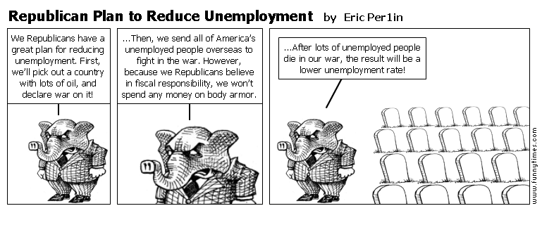 Republican Plan to Reduce Unemployment by Eric Per1in