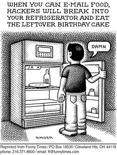 Funny food singer email  cartoon, April 25, 2012