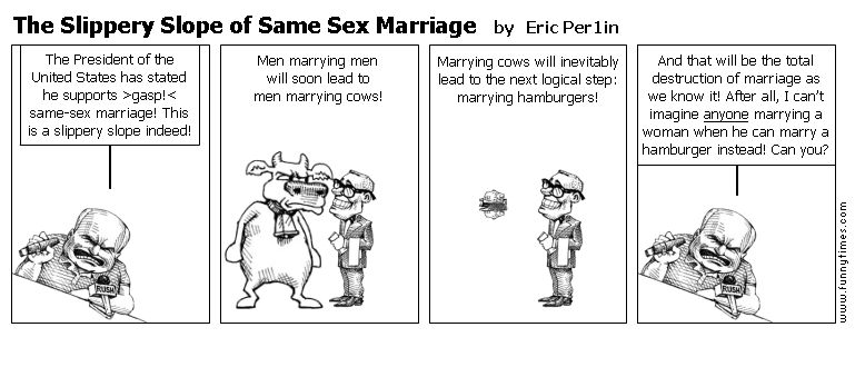 The Slippery Slope of Same Sex Marriage by Eric Per1in