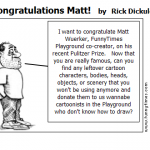 Congratulations Matt