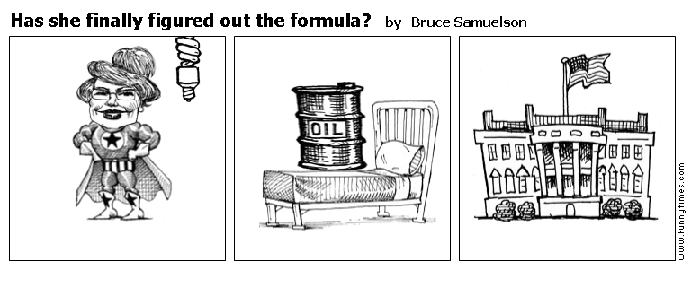 Has she finally figured out the formula by Bruce Samuelson