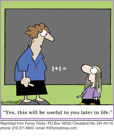 Funny teacher Glasbergen school  cartoon, May 23, 2012