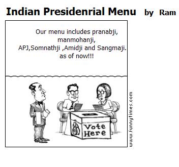 Indian Presidenrial Menu by Ram