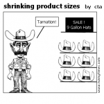 shrinking product sizes