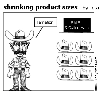 shrinking product sizes by cta