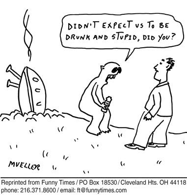 Funny mueller alien ufo  cartoon, June 20, 2012