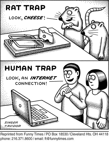 Funny singer computer internet  cartoon, June 27, 2012