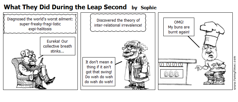 What They Did During the Leap Second by Sophie