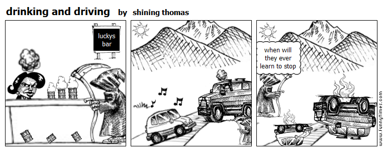drinking and driving by shining thomas