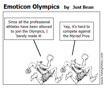Emoticon Olympics by Just Bean