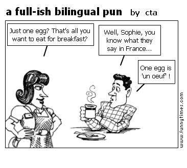 a full-ish bilingual pun by cta