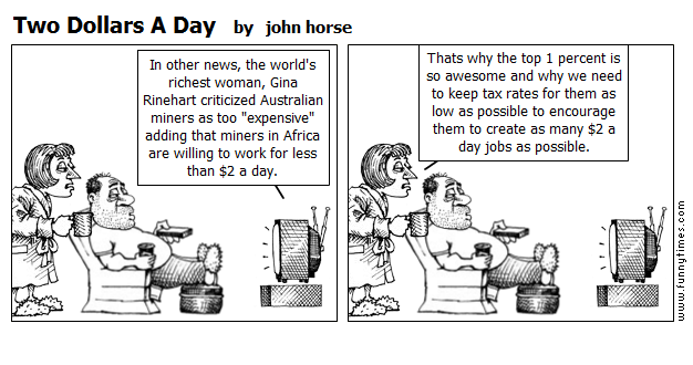 Two Dollars A Day by john horse