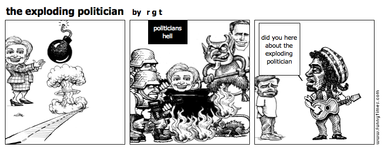 the exploding politician by r g t