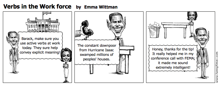 Verbs in the Work force by Emma Wittman