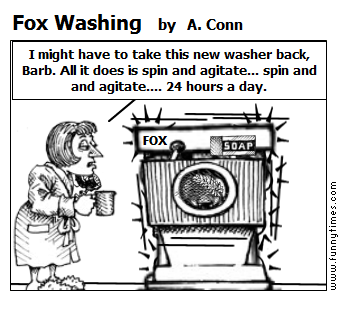 Fox Washing by A. Conn
