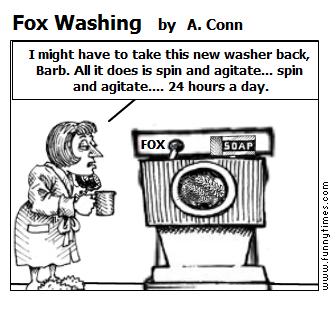 Fox Washing by A. Conn