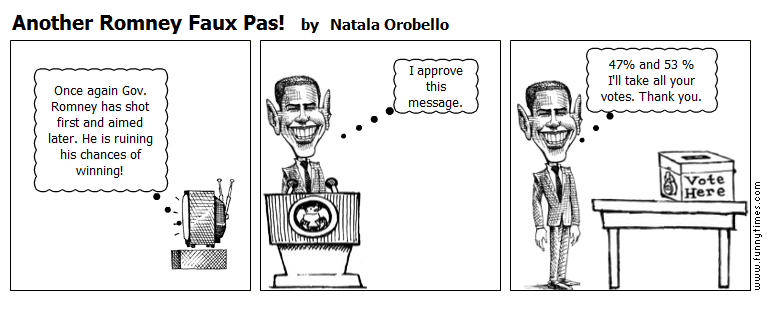 Another Romney Faux Pas by Natala Orobello