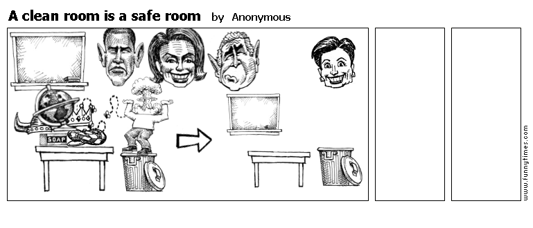 A clean room is a safe room by Anonymous