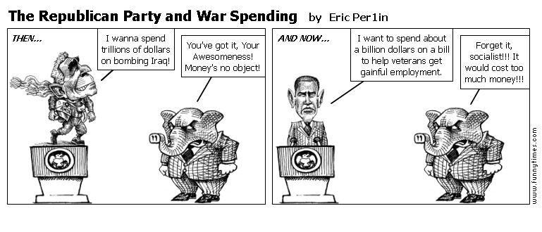 The Republican Party and War Spending by Eric Per1in