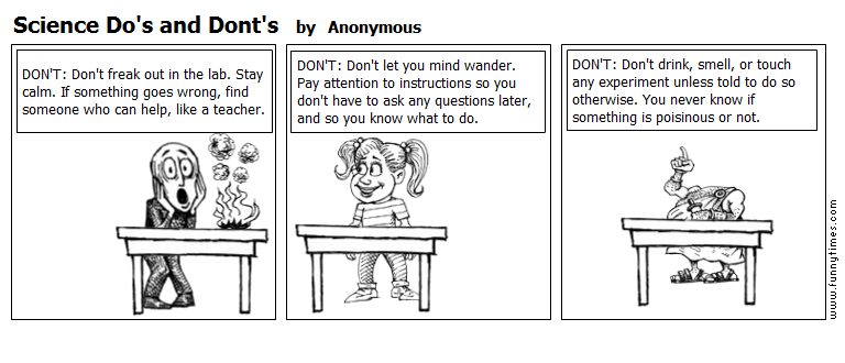 Science Do's and Dont's by Anonymous