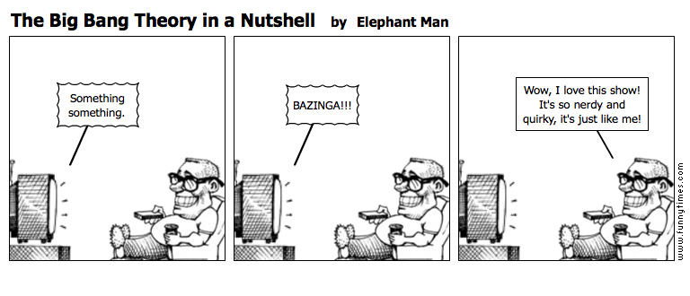 The Big Bang Theory in a Nutshell by Elephant Man