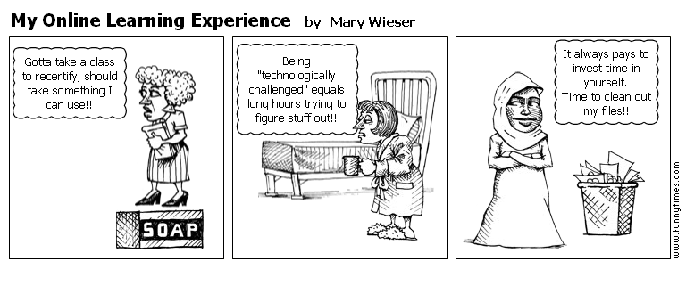 My Online Learning Experience by Mary Wieser