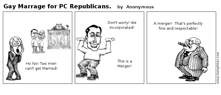 Gay Marrage for PC Republicans. by Anonymous