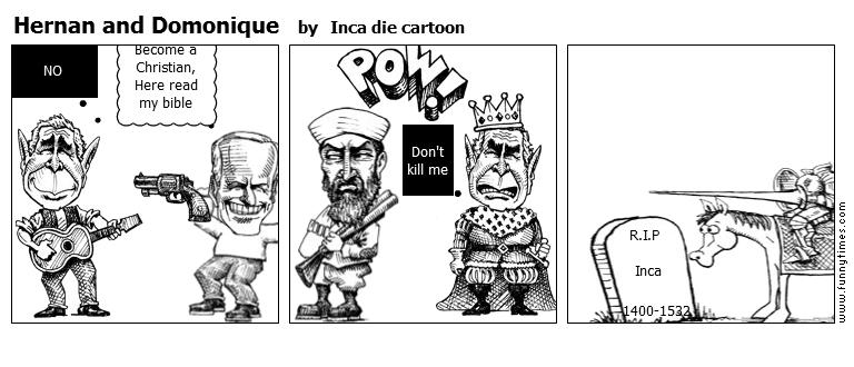 Hernan and Domonique by Inca die cartoon