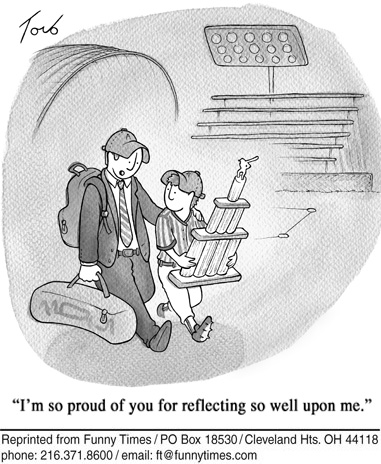 Funny food parents sports  cartoon, September 12, 2012